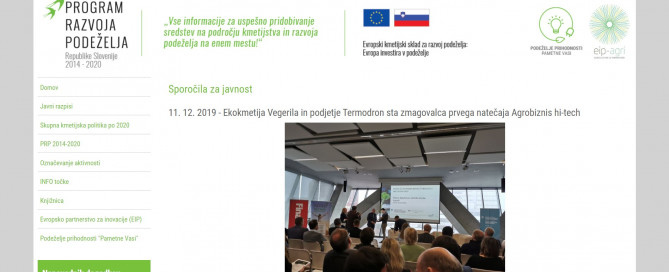 Termodron - In Media - Program podeželja Termodron