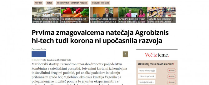 Termodron - In Media - Agrobiznis hi-tech